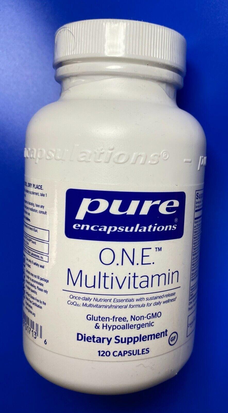 NEW & FRESH 4/22 Pure Encapsulations O.N.E. Multivitamin 120 caps FREE SHIPPING