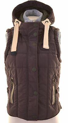 SUPERDRY Womens Padded Gilet Size 10 Small Purple Cotton  IT18
