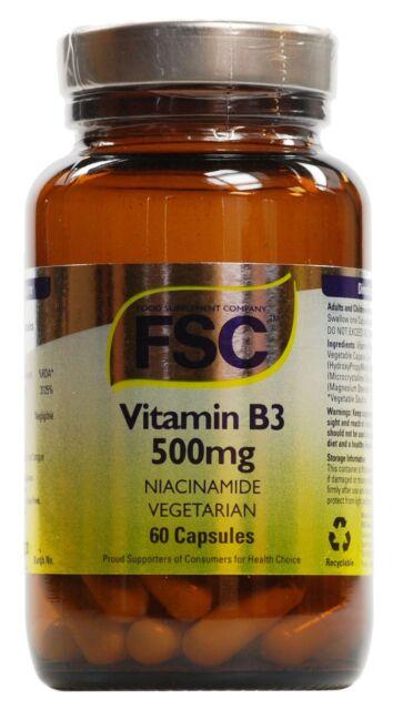 Vitamin B3 500mg, Niacinamide - FSC