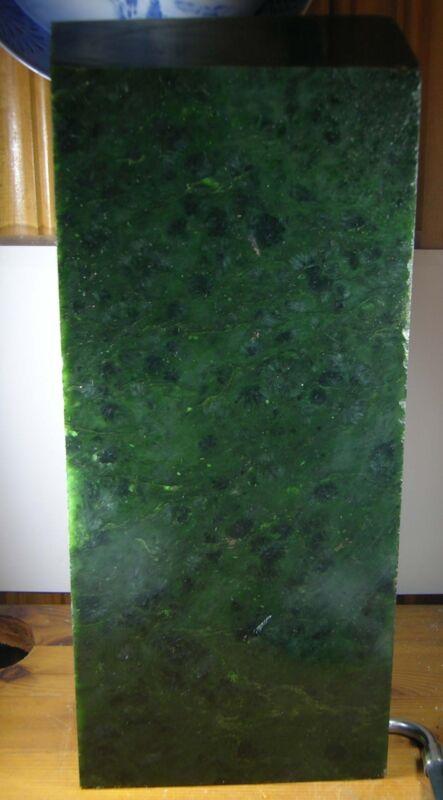 13860g Bc Canada 100% Natural Raw Rough Green Jade Block Specimen 28.85 Lb