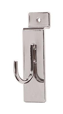 50 Chrome 1 Slatwall Metal Hooks Slat Wall Display Hook Slat Grid Panels