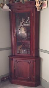 OLD SOLID MAHOGANY CORNER UNIT CABINET Pitt Town Hawkesbury Area Preview