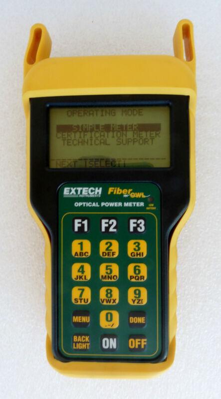 EXTECH FO610 FIBERMETER FIBER OPTIC POWER METER 9V HIGH POWER MODEL