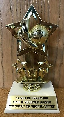 - SOCCER TROPHY - FREE ENGRAVING - EASY ASSEMBLY REQUIRED