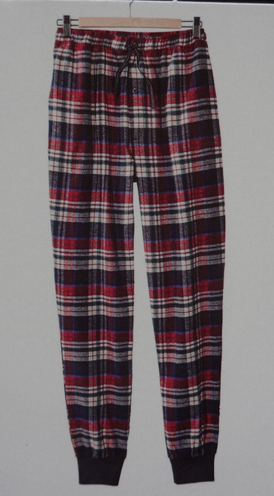 0aaae4ab20e162 NEU Herren Schlafhose Pyjama Flanell Hose kariert Relaxhose Rot Blau M L  XL*. von Livergy