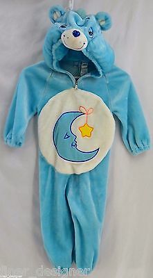 Care Bears Moon Bedtime Bear Costume Faux Fur warm Halloween Boy Girl Size 2 3 4 (Halloween Costumes Care Bears)