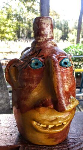 Face jug .. Southern Pottery ugly  Jug-decorative folk art-