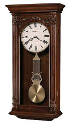 625-352 GREER-625352 HOWARD MILLER WALL CLOCK  DUAL CHIMES AND AUTO NIGHT  OFF