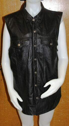 Mens Harley Davidson Leather Vest Size Large