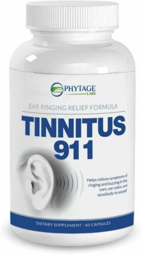 PHYTAGE LABS TINNITUS 911 Ear Ringing Relief Head Noise Help 60 FRESH Capsules