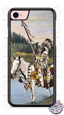 Native American Indian on Horse Phone Case Cover For iPhone Samsung LG Google Native American Indian Cover