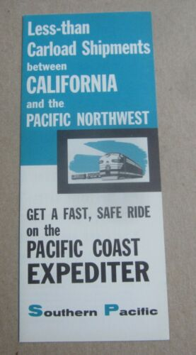 Old Vintage 1956 - S.P. Railroad - Pacific Coast Expediter - FREIGHT Service