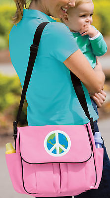 World Peace Sign Diaper Bag BEST Shower Gifts for Daddy or Mommy New Dad