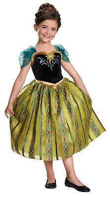 Eiskönigin Anna Krönung Kinder Mädchen Kostüm Disney Prinzessin (Disney Prinzessin Verkleiden Kostüm)