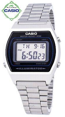 Casio Retro Digital Watch Stainless Steel Illuminator B640WD-1AVDF B640WD-1AV