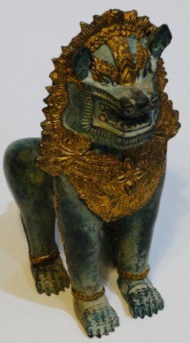 Vintage Thai Bronze Temple Guardian/ Singha Lion