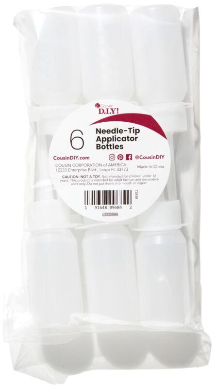 Needle Tip Applicator Bottles 6/Pkg-Empty