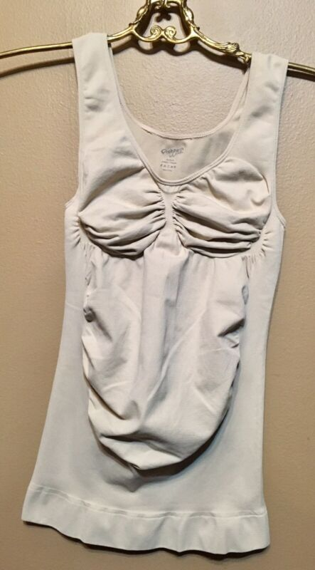 Preggers By Therafirm Maternity Support Tank Tan Size M