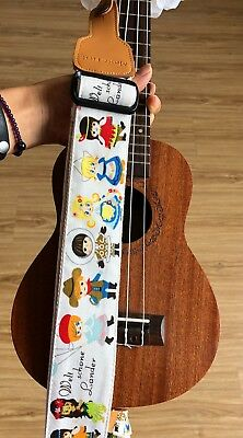 Cute cartoon deluxe guitar strap for kids strap fits for all size ukulele guitar for sale  Shipping to Canada