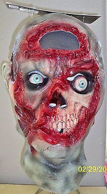 Digital Dudz Blutig Eklig Gehirn Zombie Untoter Maske Kostüm TB10317 ()