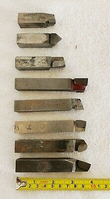 Lot 8 Brazed Carbide Lathe Cutting Tool Bits 58 X 58 Shanks Carboloy Misc