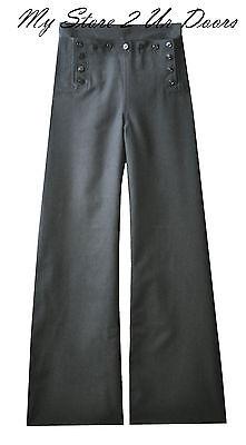 Vintage Cracker Jack U.S. Navy Bell Bottom 13 Button Dress Blue Pants / Trousers