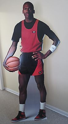 Vintage 1985 Air Jordan Nike Lifesize Stand Up Cut Out RARE
