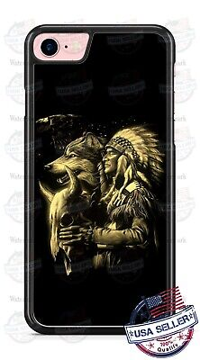 Native American Indian Wolf Phone Case Cover For iPhone Samsung LG Google Native American Indian Cover