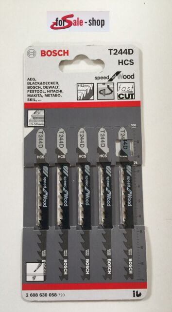 Bosch Stichsägeblatt T244 D für Holz 5 Stück