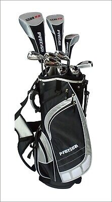 NEW Precise ML55 Mens Complete Right Handed Golf Club Package Set - Black/Silver