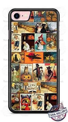 Halloween Vintage Poster Background Phone Cover Case For iPhone Samsung LG etc