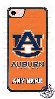 Customized Auburn Tigers Orange Design Phone Case with name for iPhone LG etc Auburn Tigers Cell Phone Case