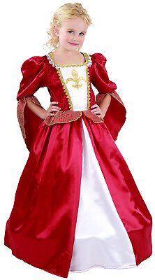 Girls Christmas Tudor Elizabethan Regal Queen Fancy Dress Costume Outfit New 4-6 (Elizabethan Outfit)