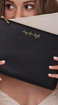 Katie Loxton London Black Pouch Shine Bag