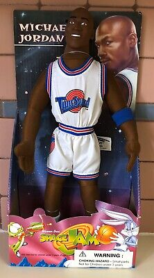"Michael Jordan Space Jam Figure Doll Brand new Play by Play 12"" Plush"