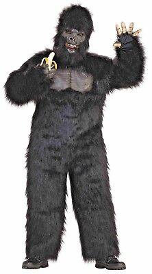 Pink Gorilla Costume (MASCOT Costume GORILLA Moveable Jaw Mask Hands Adult PLUSH Kong NEW)