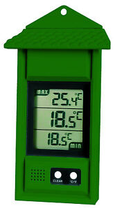 Easy to Read Digital Max Min Thermometer ideal for Greenhouse or Conservatory