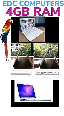 "Apple MacBook White 13"" A1342 500GB HDD, 4GB Ram. OS X High Sierra"