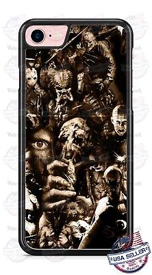 Predator Krueger Jason Scary Villains Phone Case Cover for iPhone Xs Max LG etc](Predator Scary)
