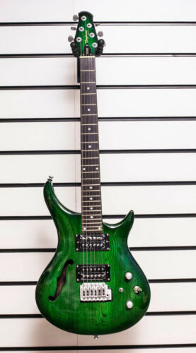 Electric Guitar Tanglewood TE6JS Tomcat Tomkat F Hole Green With Tremolo Y-55