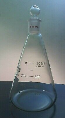Erlenmeyer Flask 1000 Ml With Ground-in Glass Stopper.
