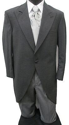Grey Chaps Ralph Lauren Cutaway Morning Coat W  Striped Pants Dickens Victorian