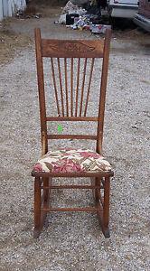 Oak-Sewing-Rocker-Rocking-Chair-rose-print-R125