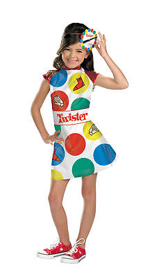 Twister Child Costume Spinner Games Multicolor Theme Cute Kids Halloween - Halloween Themed Games Party