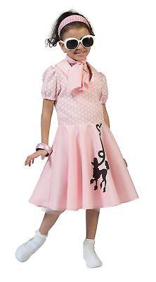 Pudel Kleid Pink , Groß, 50s Rockerbilly Kostüm, - Pudel Rock Kleid
