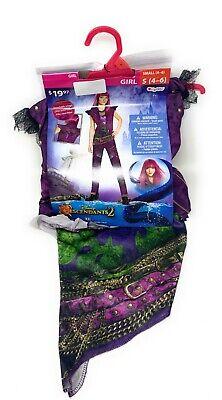 Halloween Disney Descendants 2 Girl's Mal Costume  - Kids Size Small (4-6)