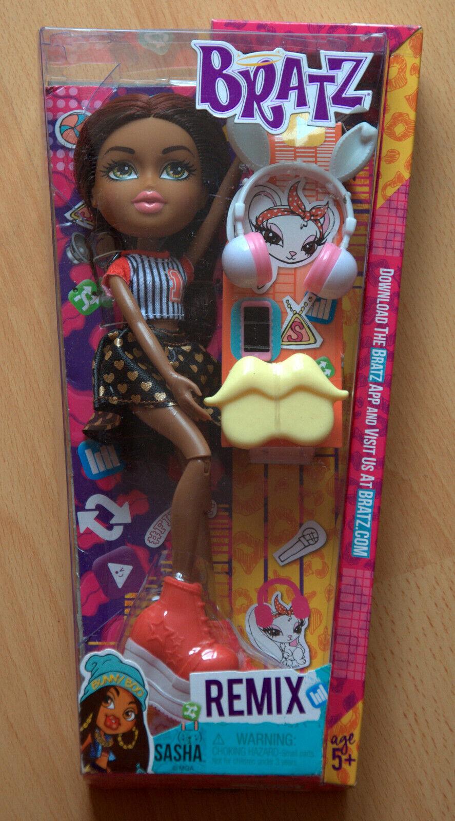 BRATZ Puppe Remix Sasha Puppe mit Zubehör Neu OVP
