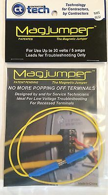 Magjumper   Magnetic Tip Jumper Hvac Testing Troubleshooting Tool  Blue