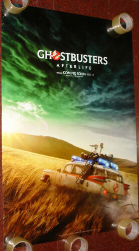 GHOSTBUSTERS AFERLIFE 2 SIDED DS POSTER 27 X 40