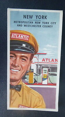 1960 New York metro New York City Westchester Atlantic oil  gas  road maps